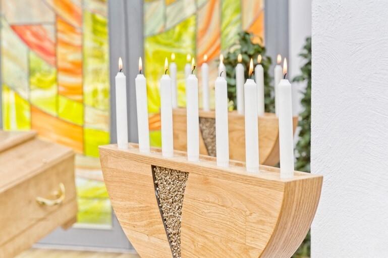 Kerzen Auf Der Bestattung