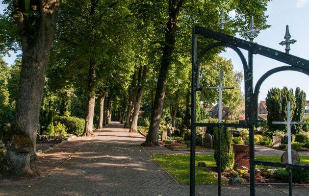 Eingang Auf Dem Alten Friedhof Lingen