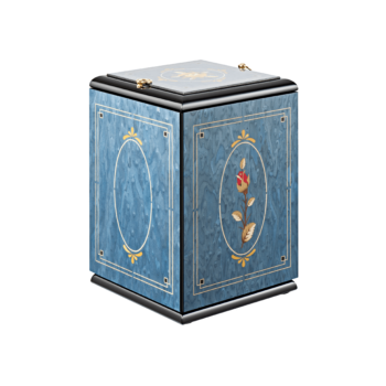 Urne Aus Holz, Leonardo Blu