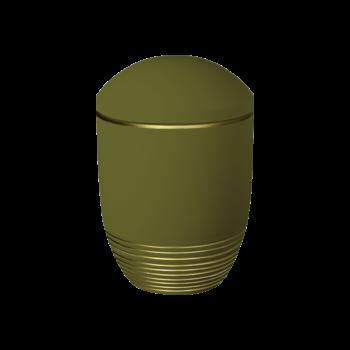 Urne Aus Keramik, Nova, Teak-Gold