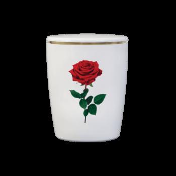 Urne Aus Naturstoff, Solide-Line Flowers, Rose