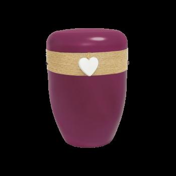 Urne Aus Naturstoff, Creative-Line Jute, Bordeauxviolett