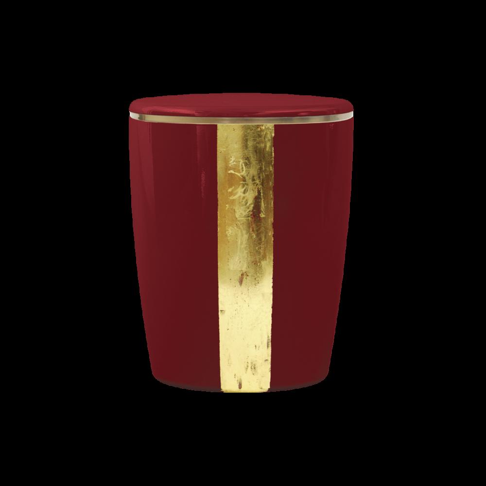 Urne aus Naturstoff, Taunus, Rot