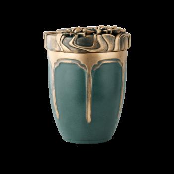 Urne Aus Anhydrit, Seerose, Grün