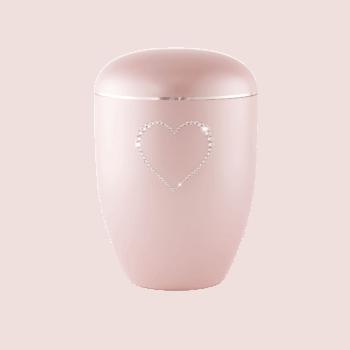 Urne Aus Naturstoff, Edition Crystal, Rosé