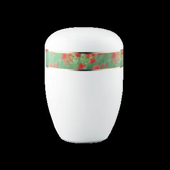Urne Aus Naturstoff, Edition 360°, Mohn, Weiß