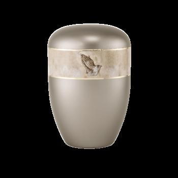 Urne Aus Naturstoff, Edition 360°, Betende Hände