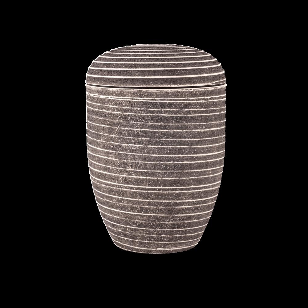 Urne aus Naturstoff, Edition Pierre, Grau