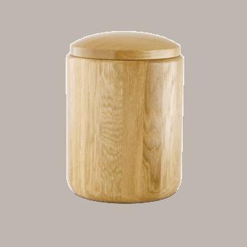 Urne Aus Holz, Eiche, Natur