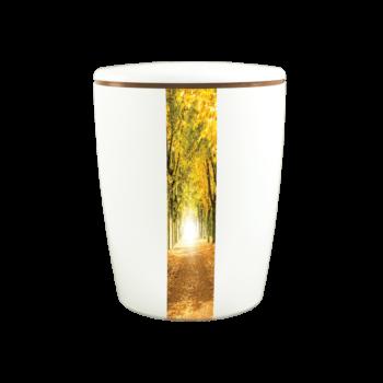Urne Aus Naturstoff, Solide-Line Creative Vertical, Waldweg