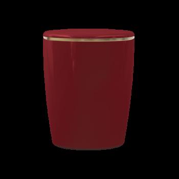 Urne Aus Naturstoff, Solide Line Hochglanz, Rubinrot