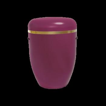 Urne Aus Naturstoff, Creative Line Zierband, Bordauxviolett