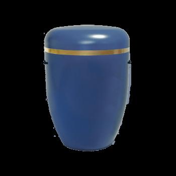 Urne Aus Naturstoff, Creative Line Zierband, Marine