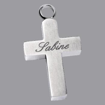 Aufbewahrungsanhänger Kreuz Aus Edelstahl
