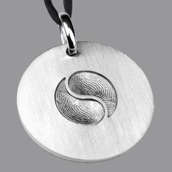 Erinnerungsmünze Yin-Yang In Weißgold
