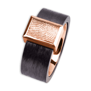 Ring Francis Carbon Und Roségold