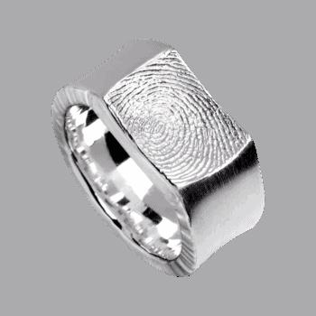 Ring Impression In Sterlingsilber