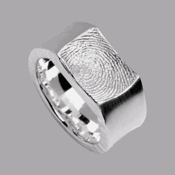 Ring Impression In Weißgold