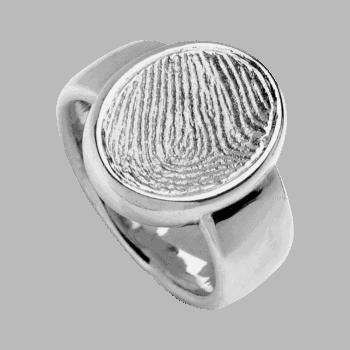 Ring Siegelring In Weißgold
