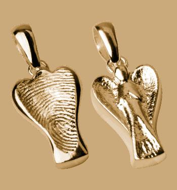 Schmuckanhänger Engel In Gelbgold