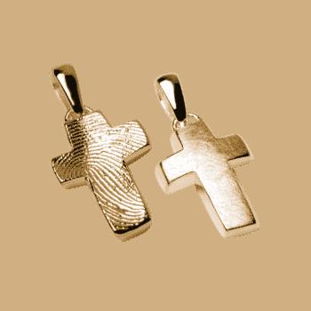 Schmuckanhänger Kleines Kreuz In Gelbgold