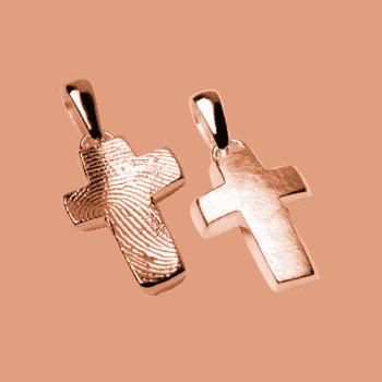 Schmuckanhänger Kleines Kreuz In Roségold