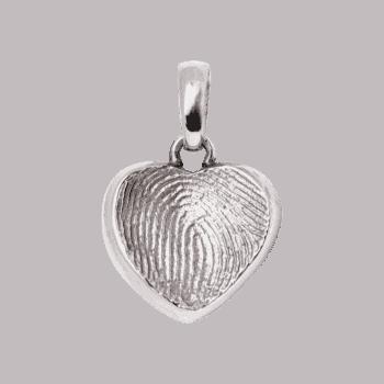 Schmuckanhänger Herz In Weißgold