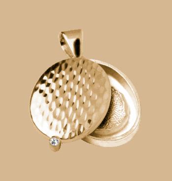 Schmuckanhänger Enigma In Gelbgold