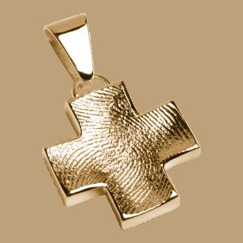 Schmuckanhänger Großes Kreuz In Gelbgold
