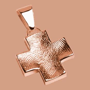 Schmuckanhänger Großes Kreuz In Roségold