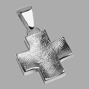 Schmuckanhänger Großes Kreuz In Sterlingsilber