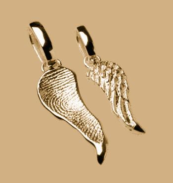 Schmuckanhänger Engelsflügel In Gelbgold