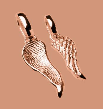 Schmuckanhänger Engelsflügel In Roségold