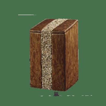 Urne Aus Keramik, Momento, Mahagoni-Kiesel