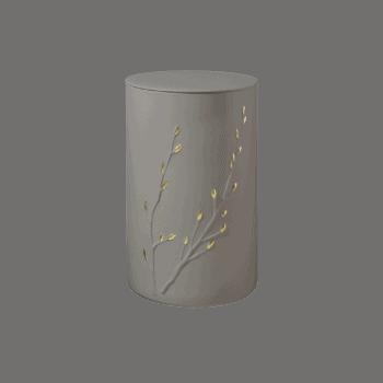 Urne Aus Keramik, Rondo Zen, Mandel-Gold