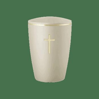 Urne Aus Naturstoff, Edition Venezia, Champagner, Kreuz