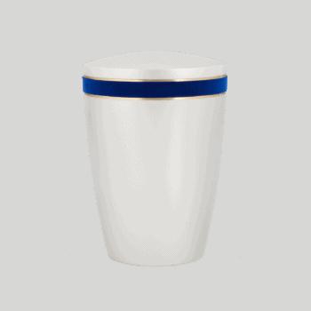 Urne Aus Naturstoff, Edition White Satin, Königsblau